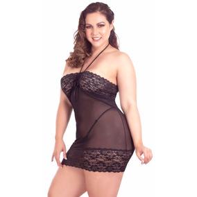 Sexy Lenceria Talla Extra 38 40 Baby Doll Mesh Con Tanga