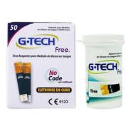 Tiras Reagentes G-tech Free 50 Unidades - Medir Glicose