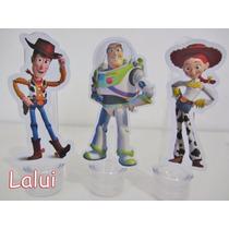 Pacote Com 10 Apliques Para Tubete - Toy Story