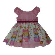 Vestido Para Criança Bebê Estampado Rosa