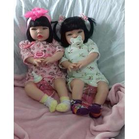 Boneca Tipo Reborn Gemêas Luxo Barato!!!