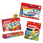 Kit Crear Pintura Dactilar, Tempera 7, Color Acua, Plumones