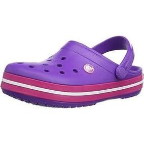 Crocs Crocband Neon Purple-candy Pink (violeta-fucsia)