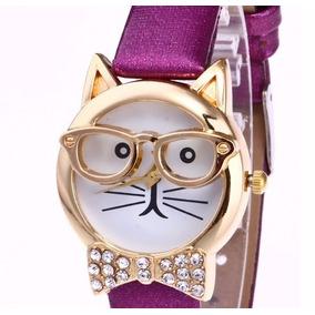 Reloj Gato Cristal Decoración , Sin Caja O Con Caja