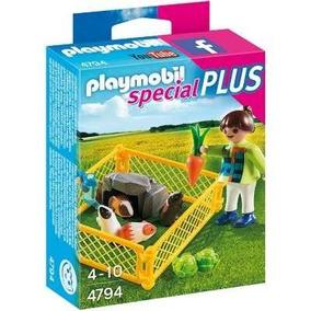 Playmobil Special Plus Menina Com Porquinhos Da Índia B0097