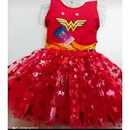 Conjunto Infantil Mulher Maravilha Carnaval