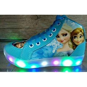 Zapatillas Frozen Luces Led Talle 20 Al 34