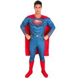 Fantasia Superman O Homem De Aço Adulto Luxo Completa