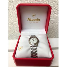 Reloj Nivada Swiss Para Mujer De Acero Original