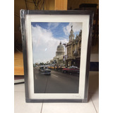 Cuadro Marco Foto Del Capitolio Habana Cuba Autógrafo