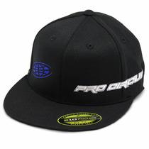 Boné Aba Reta Pro Circuit Straight Preto/azul Flexfit S/m
