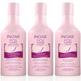 Inoar Kit Pós Progressiva Shampoo + Condicionador + Leave In
