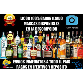 Licor Bourdon Coñac Fernet Gin Jager Ron Sake Tequila Whisky