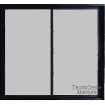 Aberturas Ventanal Aluminio Negro Vidrio Entero 4mm 200x150