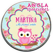 10 Latas Pastilleros Búho Bebé Nena Varon Personalizados!!
