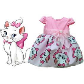 Vestido Gatinha Marie Festa Infantil Lindo Tam. 01 Ao 06.