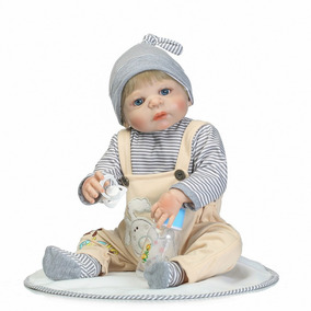 Bebê Reborn Menino 55 Cm Loiro Corpo 100% Silicone P.entrega