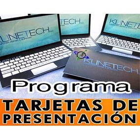 Programa Para Elaborar Y Diseñar Tarjetas De Presentación