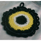 Agarradera Tejida Al Crochet Forrada