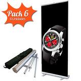 Porta Banner Roll Up 85x200cm Caja De 6 Portabanner