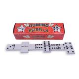 Juego De Domino Estrella Mexicano Estuche De Carton 16 Cms