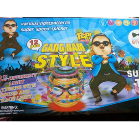 Trompo Luces Música Beyblade Psy Gangnam Pilas Lanzador New