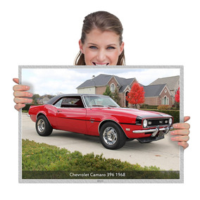 Poster Muscle Cars Chevrolet Camaro 396 1968 (tam. A2)