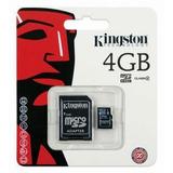 Cartão Memória Micro Sd 4gb Lacrado C/ Adaptador Sd Original