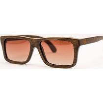 Óculos De Sol Yeva Squarewood Bamboo Brown