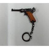 Pistola Alemana Luger Miniatura A Cebita Metal Llavero