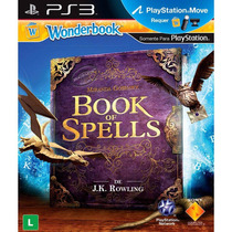 Wonderbook Book Of Spells Livro + Jogo Ps3 - Novo