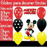 Globos De Látex Surtidos Para Decorar Fiestas Mickey Disney