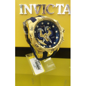 Relógio Invicta Venom 14465 - Ouro 18k, Pulseira Azul