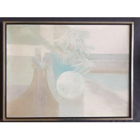 Cuadro Oleo Decorativo Moderno Con Firma Ilegible 82x63cm