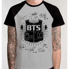 Camiseta Raglan Bts Kpop Autografo Blusa Camisa Frete Grátis