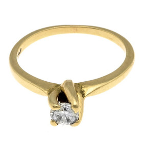 Anillo Oro Amarillo Con Diamante.-112782970
