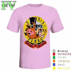 Camiseta Personalizada Gun`s Roses Rock Timão E Pumba