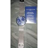 Reloj Tommy Hilfiger Mwm1791161 100% Acero 5atm Malla Mylar