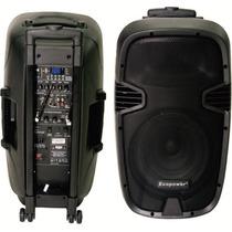 Caixa Ativa Ep-s302 400wrms 12 Pol. Usb Mic. S/ Fio Bateria