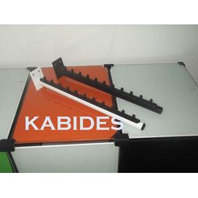 Cabideiro Rt Inclinado Para 11 Cabides Kit Com 10 Pçs Parede