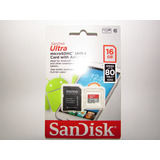 Micro Sd 16gb Sandisk Ultra *alta Velocidad* 80mbs Clase 10