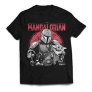 Camiseta Mandalorian Star Wars Baby Yoda Grogu Rock Activity