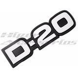 Kit Emblemas 2 D-20 E 2 Custom Pick-up Gm Chevrolet D20