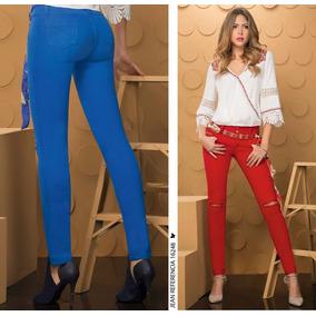 Jeans Mujer Lycrado, Levanta Cola, Bota Tubo, Tiro Alto