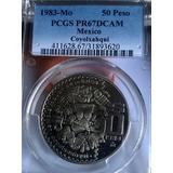 Moneda $50 Pesos1983 Proof Prueba Satin-espejo Menos 1000 Pz