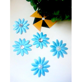 Flores Tela Con Perla Para Decoracion Costura X 10u Souvenir