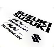 Kit Jogo Emblema Adesivo Suzuki Burgman An 125 2007 Bgm01