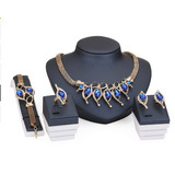 Juego De Joyeria Elegante Perlas Africanas Fantasia