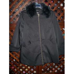 Inc Chamarra/abrigo Con Cuello Peluche Color Negro # Small