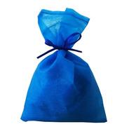 30 Saquinhos Sacolinhas Tnt 15x23 Azul Royal Fita De Cetim